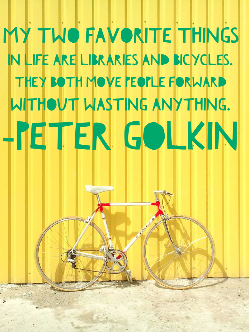 Famous Library Quote by Peter Golkin